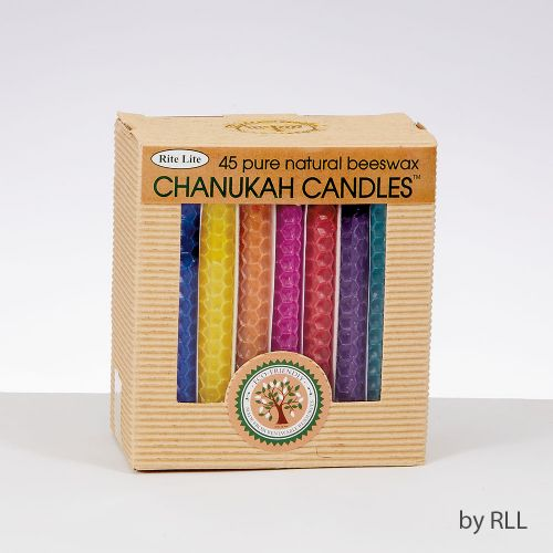 Chanukah - Multi Coloured Beeswax Candles
