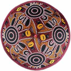Kippah - Aboriginal Art - Earth theme