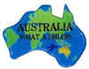 Magnet -  Australia - What a Shlep! (Blue)