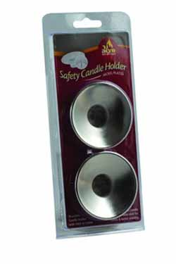 Safety Candle Holder Silver 2-pack