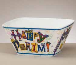 Happy Purim Melamine Bowl