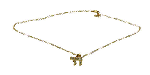 NECKLACE: Chai - Gold with inlaid stones
