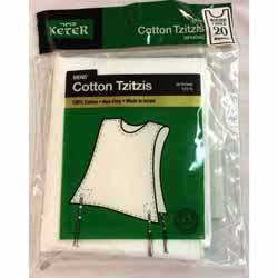 Tzitzit Cotton Adults - Size 18:	12-14 Years