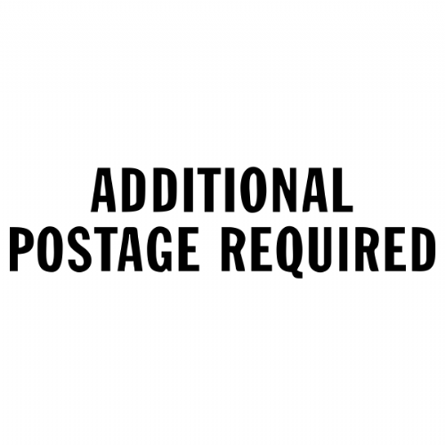 Additional postage charge $15