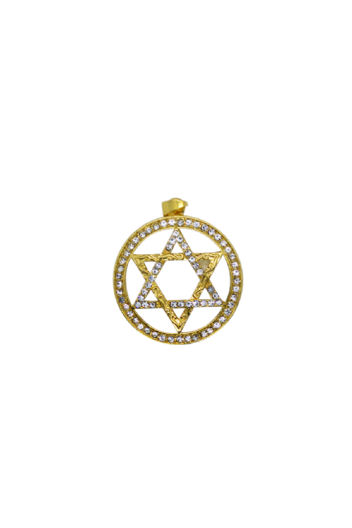 CHARM:  Gold Star In Circle