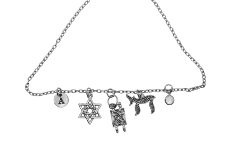 NECKLACE: Silver charms on silver chain