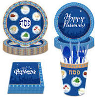 Passover Disposable Tableware Set - Seder Plate style