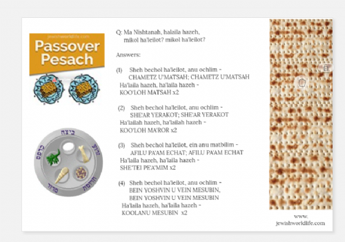 Pesach Jigsaw Puzzle