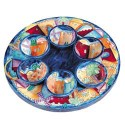 Seder Plate Jerusalem - Emanuel Painted Royal range